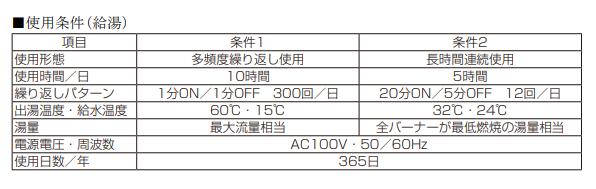 NORITZ - ガス業務用給湯器の設計標準使用期間